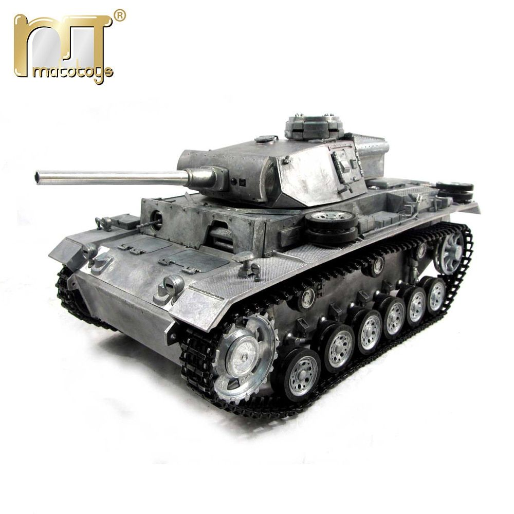 MATO 1 16 Complete all Metal Tank German Panzer III 2.4G Mato Toys RC Tank model airsoft recoil barrel RTR version military