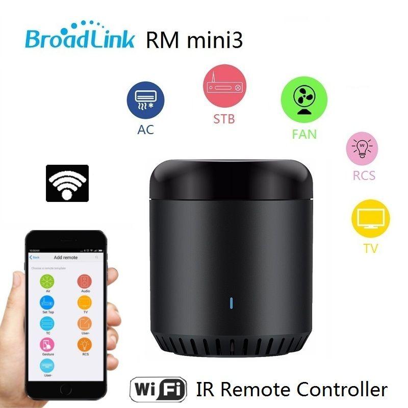 2018 New Original Broadlink RM Mini3 Universel Intelligent WiFi/IR/4G Sans Fil À Distance Contrôleur Via Téléphone Intelligent Domotique