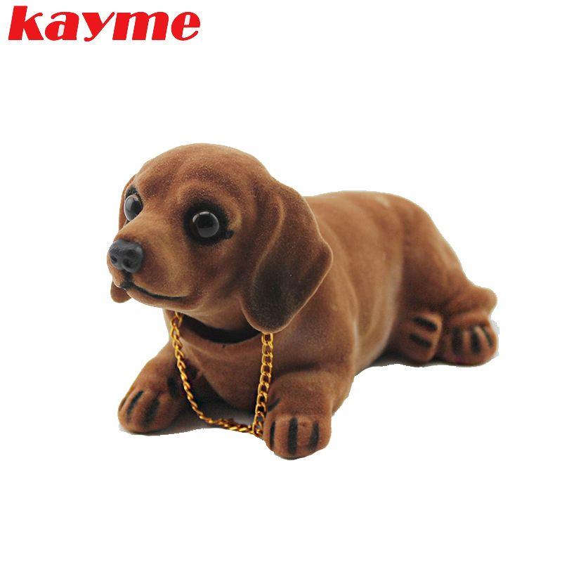 Kayme Bobble Head Dog Car Dashboard Doll Auto Shaking Head Toy Ornaments Nodding Dog Car Interior Furnishings Decoration Gift