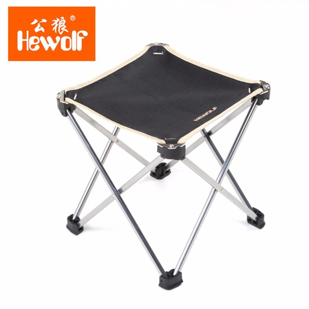 Hewolf Design Super Lightweight Outdoor Camping Fishing Leiaure Chair Folding 900D Oxford Cloth Picnic Beach Chair Hot Sales