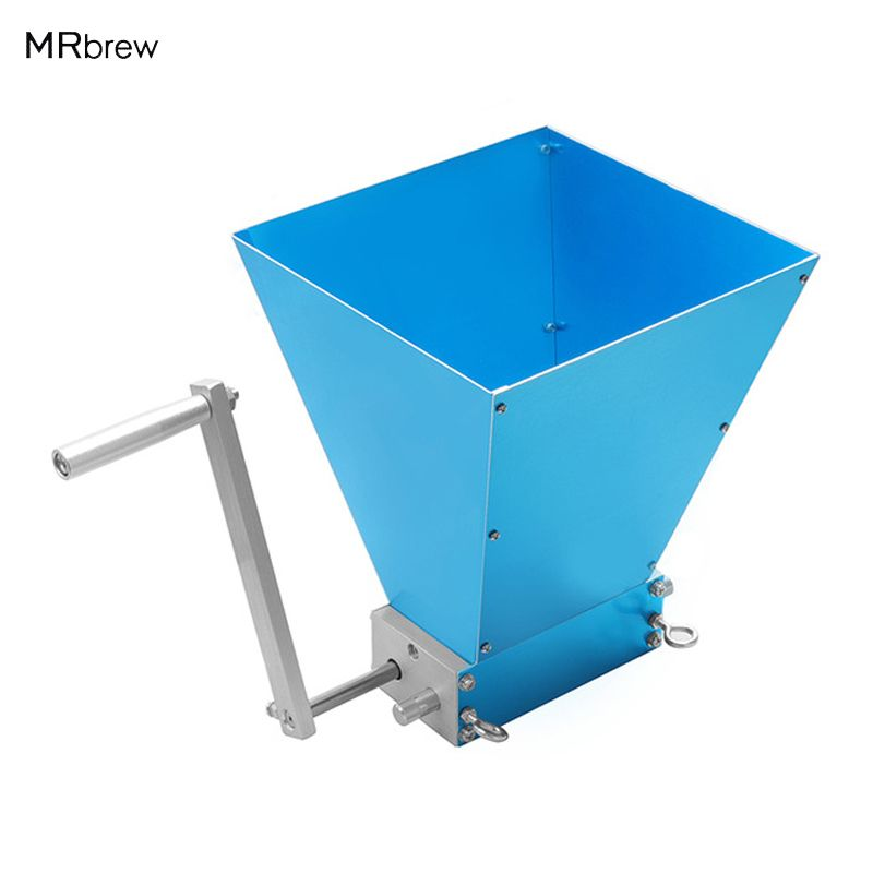 2018 New Stainless Steel 2 Rollers Homebrew Barley <font><b>Grinder</b></font> Crusher Malt Grain Mill for Home Beer brewing Top Quality