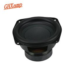 GHXAMP  5.5 / 6 inch Pure Subwoofer Woofer Speakers Rubber Edge 30 Core BASS Pots 4OHM 60W 120W 1PCS