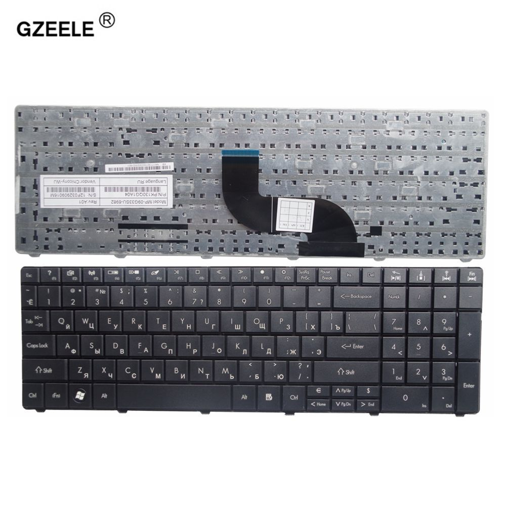 GZEELE New russian Laptop keyboard FOR Acer for Aspire E1-571G E1-531G E1 521 531 571 E1-521 E1-571 E1-521G Black RU keyboard