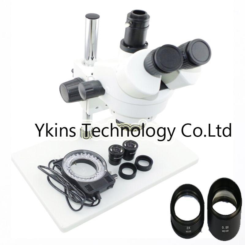 Continue Zoom Binocular 3.5X-90X Trinocular stereo microscope for BGA IC phone repair MAX 20CM working distance