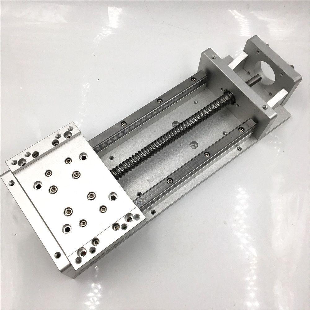 Stroke 200mm Linear Stage Actuator Sliding Table Square Rail SFU1605 Cross Slide Sliding Working Table CNC Milling
