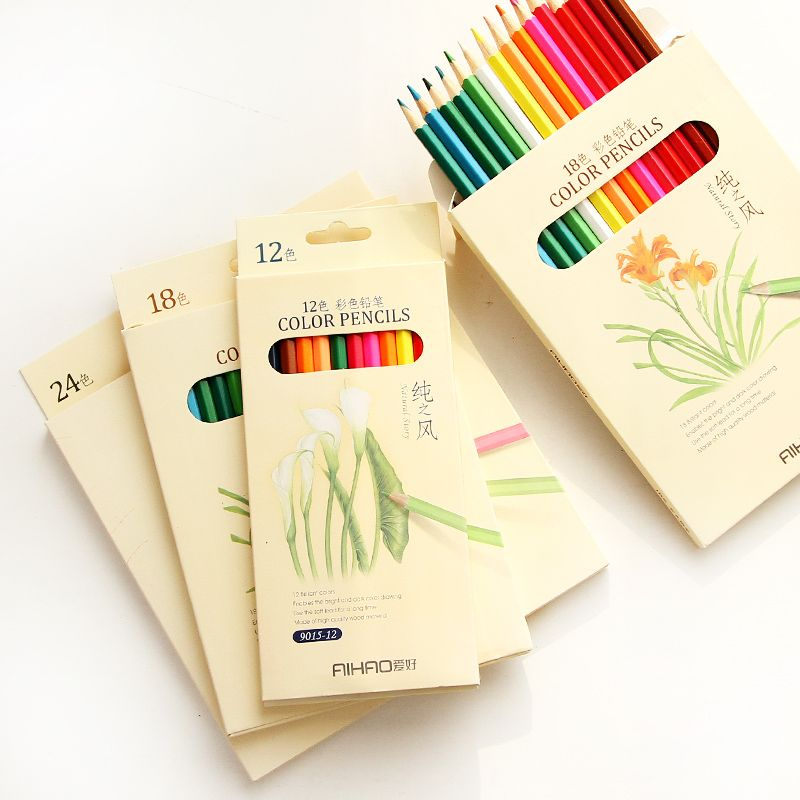 Emballé couleur peinture crayon croquis Art étudiant Dauber crayon de couleur crayon