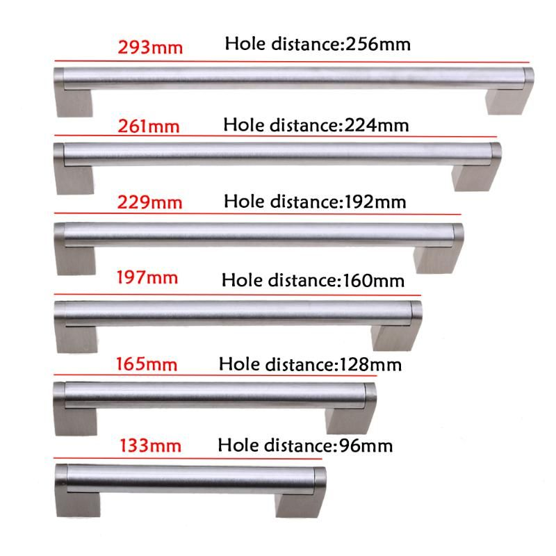 Lochmitte 96-256mm Schrank Zieht Edelstahl Möbel Schublade Griff Küchenschrank Türgriff Ziehen Hardware Griffe zieht