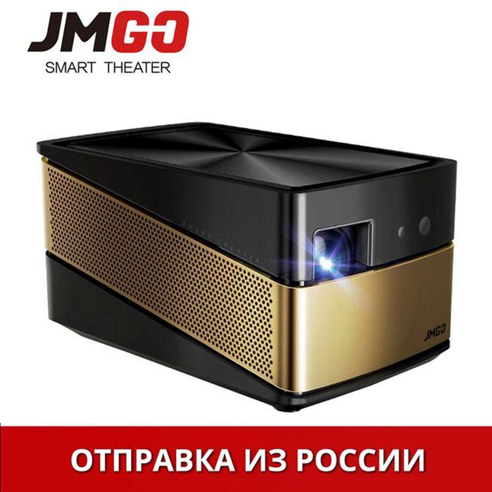 Actualización JmGo V8 nuevo hogar miniatura proyector inteligente Wifi Bluetooth 4 K proyector DLP de alta definición de cine en casa