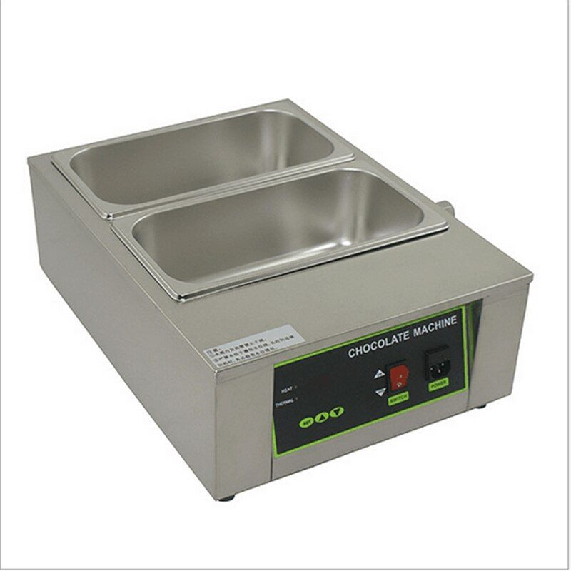 110V 220V Water Heating 2 Cylinder Stainless Steel Electric Melting Chocolate Furnace Machine Chocolate Melting Stove Pot