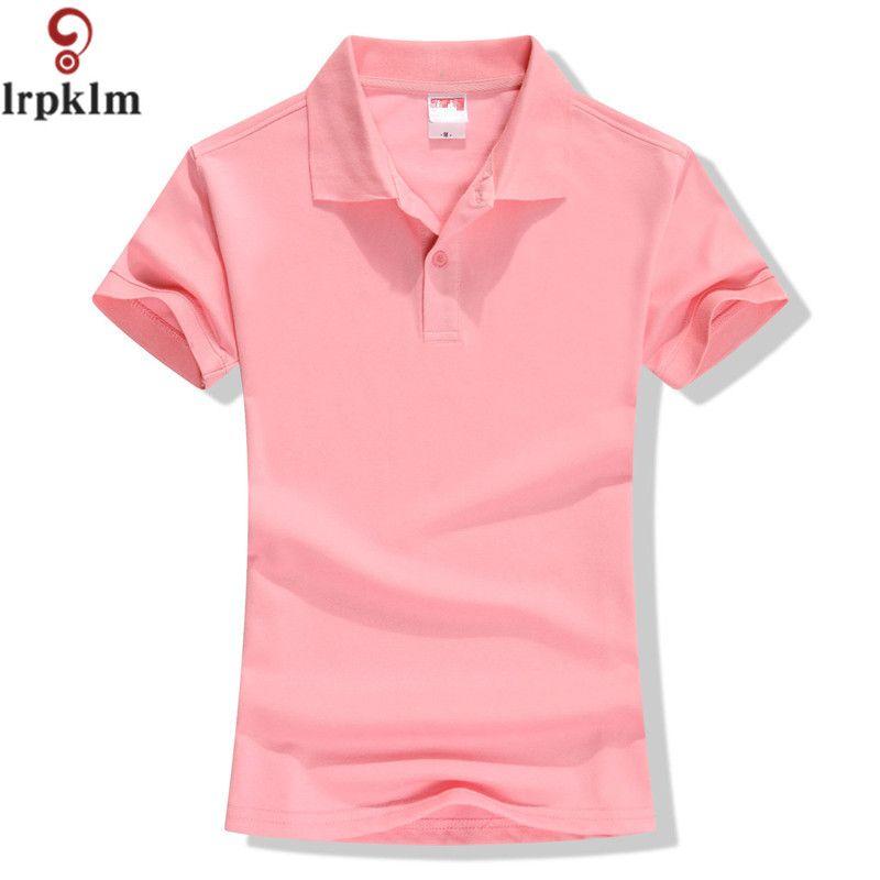 New 2017 Summer Brand Solid Polo Women Shirt Slim Short Sleeve camisa polo shirt polo femme Women Casual Shirts Clothing YY417