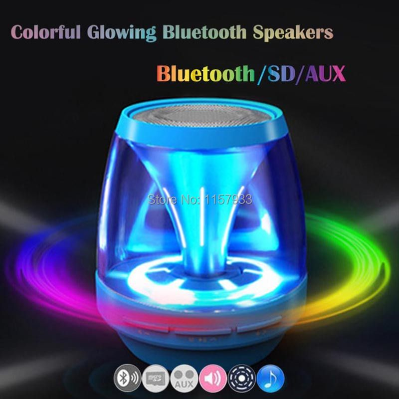 New Magic lights Mini Bluetooth X28 Speakers Stereo Wireless portable Handsfree Loudspeaker Support AUS SD Card For IPhone