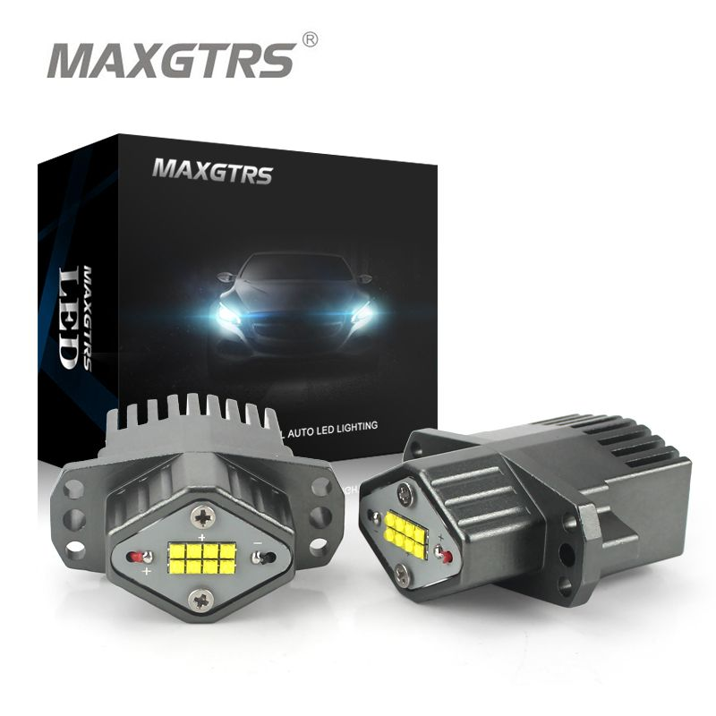 MAXGTRS 1Set (2*80W) LED Halo Ring Marker Angel Eyes Light Bulb Canbus Error Free For BMW E90 E91 325i 328i 316i 318i 320i 330i