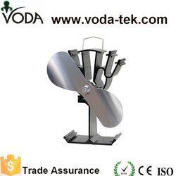 2 cuchillas estufa ventilador superior para madera/registro quemador/chimenea-eco friendly (níquel)