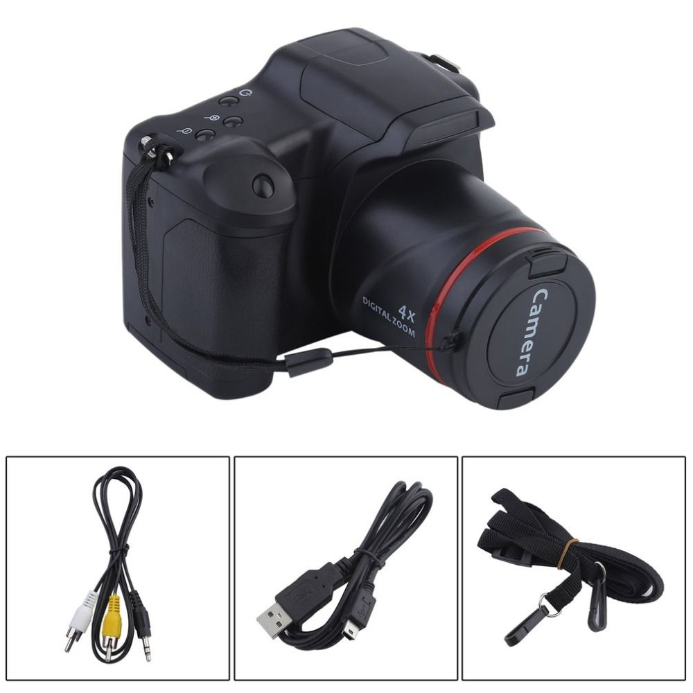 Portable HD Digital Camera CMOS Manual Medium/Long Focus Optical Zoom SLR Operation Home Usage Anti-Shake DV Camcorder