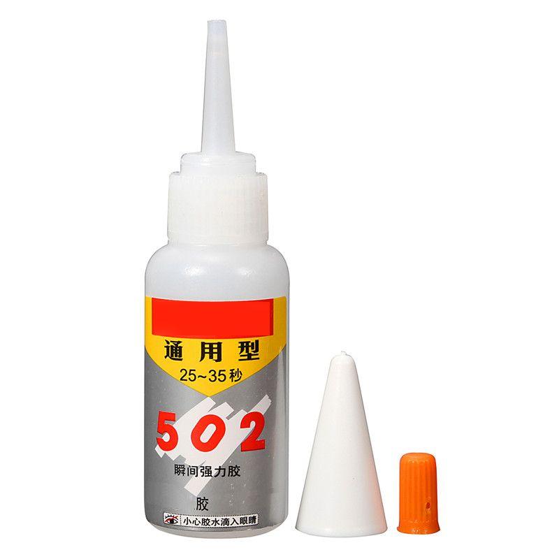1 STÜCKE Marke NEUE Super Instant Schnell trocknend Anhaftende Starke Bondschnell Für Leder Gummi Metall 502 Kleber