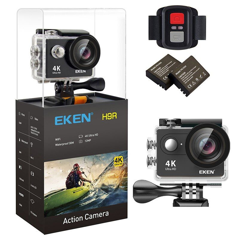 Original EKEN H9 / H9R Ultra 4K HD Wifi Action Camera waterproof 170D 1080p 60FPS underwater go underwater extreme pro sport cam