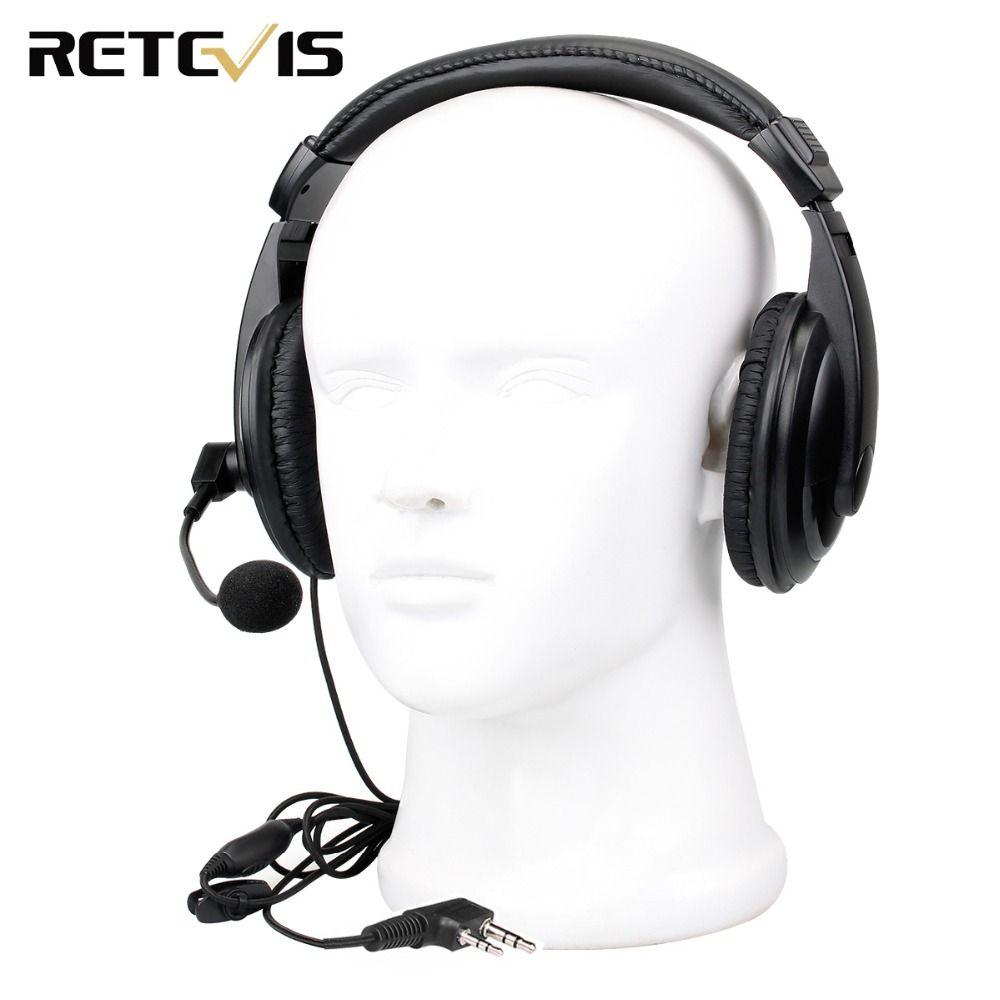 Retevis 2 pin Headset Earpiece for Kenwood Retevis H777 RT5R RT22 RT24 RT3 RT81 Baofeng UV-5R Walkie Talkie C9044B