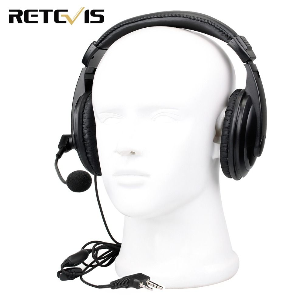 Retevis 2 pin Headset Earpiece for Kenwood Retevis H777 RT5R RT22 RT24 RT3 RT81 Baofeng UV-5R Walkie Talkie C9044B