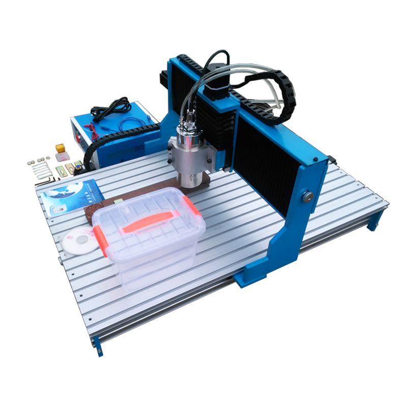 Linearführungsschiene CNC Fräsen Maschine CNC Router 6090 1.5KW Spindel Motor Holz Stein Metall Gravur Maschine
