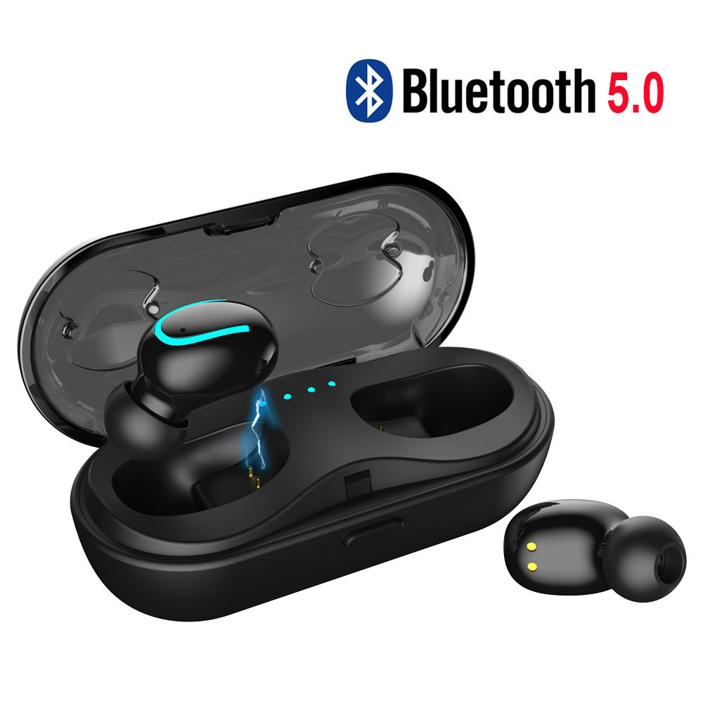 5.0 Bluetooth Earphone Mini Bluetooth Headphone for 6 Hours Continuously Working Wireless Earbuds Easy Automatically Pairing