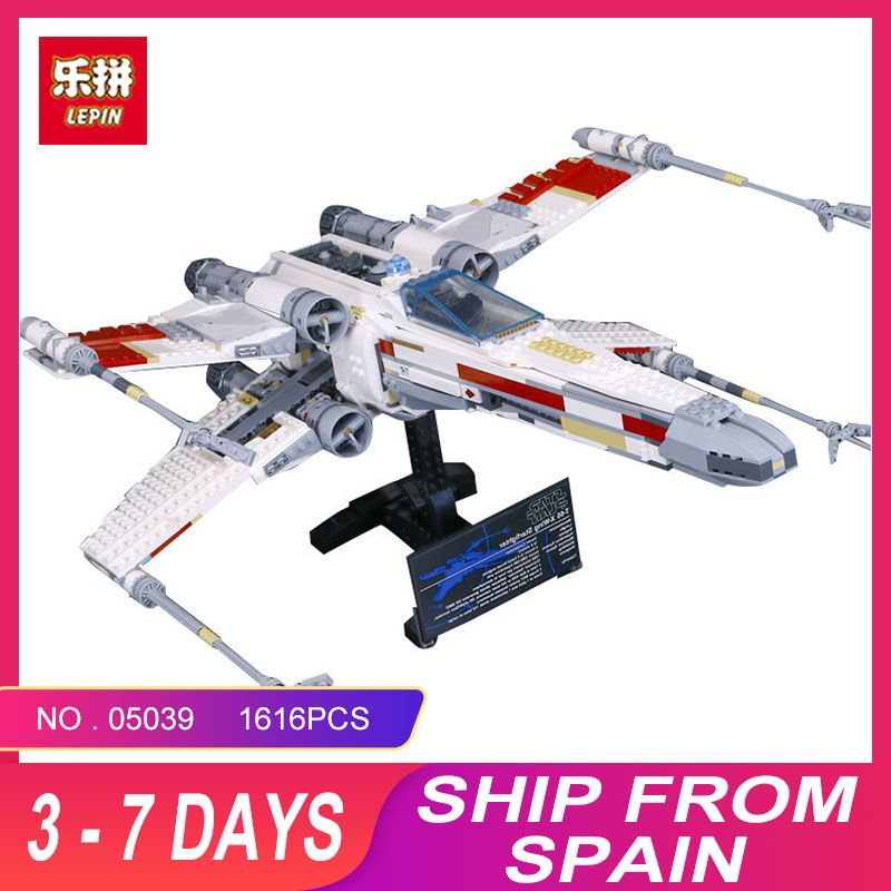 LEPIN 05039 Cool Model 1586Pcs STAR Red Five X Starfighter wing Building Blocks Bricks toy Compatible 10240 for Boy gifts WARS