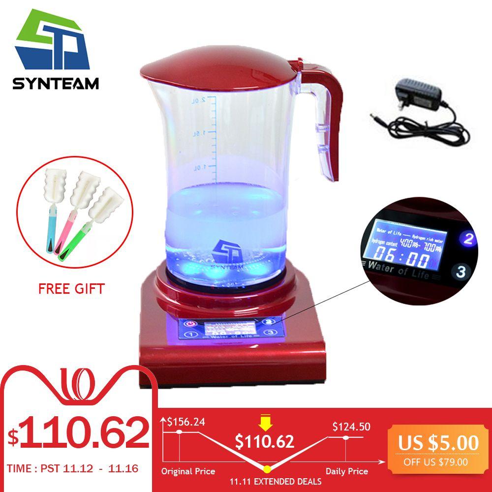 SYNTEAM 2.0L Große Wasserstoff Wasser Maker Marke Alkalische Wasser Ionisator Wasserstoff Generator GESUNDHEIT PFLEGE PRODUKT Anti Aging WAC001
