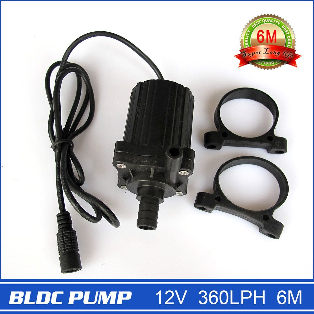 Neueste! 12 V DC Mini Pumpe, 360LPH 6,5 Mt, tauch brushless DC magnetic driven, für durchblutung, brunnen, kühlsystem, etc.