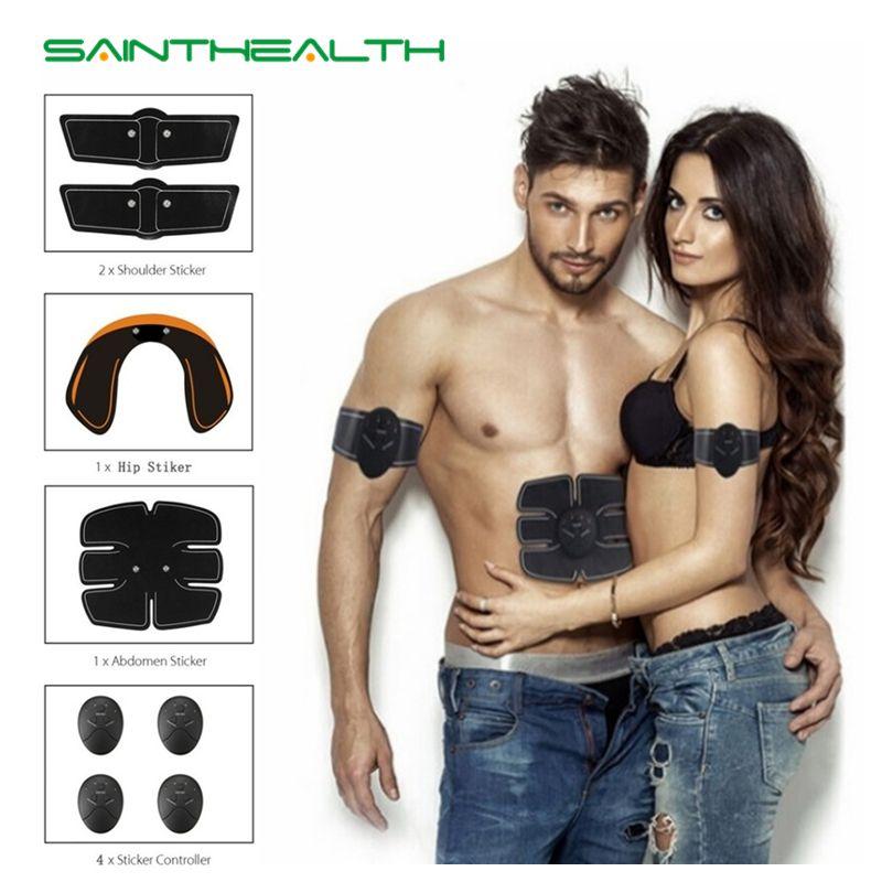 Livraison directe machine abdominale stimulateur musculaire électrique ABS ems formateur fitness perte de poids corps minceur Massage sans boîte
