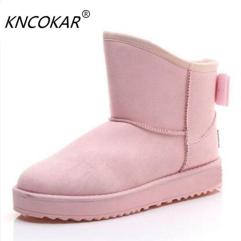 Zapatos de las mujeres para mantener el calor en invierno nieve botas bowknot más estudiantes mujeres corto botas, además de terciopelo zapatos de algodón y botas
