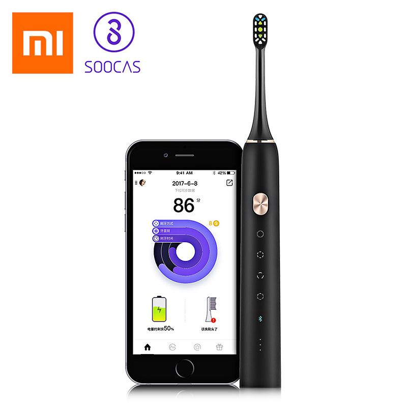 Xiaomi Soocare X3 Soocas Waterproof Electric Toothbrush Wireless Charge Sonic Upgraded Rechargable Ultrasonic Toothbrush Mi Home