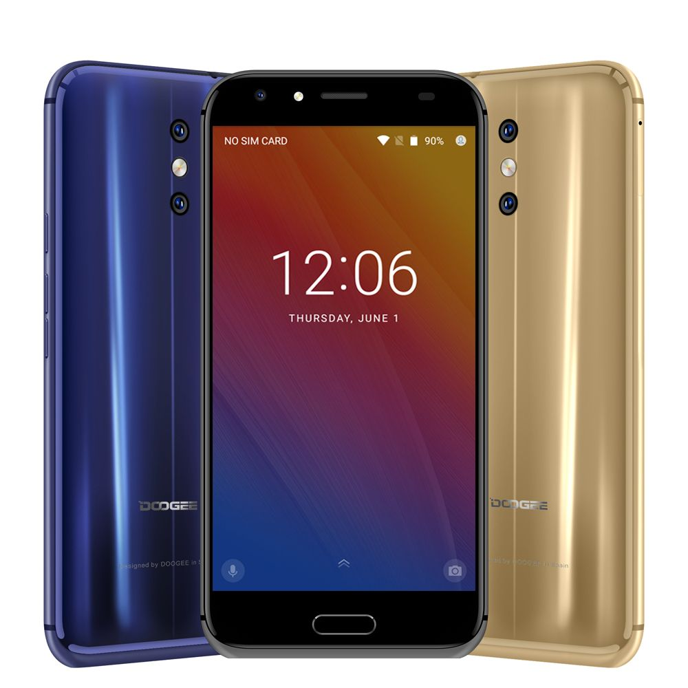 Original DOOGEE BL5000 Smartphone 5050mAh Dual Camera 5.5'' FHD MTK6750T Octa Core 1.5GHz 4GB+64GB Mobile Phones Android 7.0 LTE