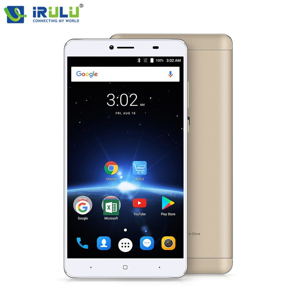 iRULU GeoKing 3 Max Smartphone Android 7.0 MTK6750T Octa Core 6.5 FHD Dual SIM 3G+32G 13.0 MP 4300mAh US Version Mobile Phone