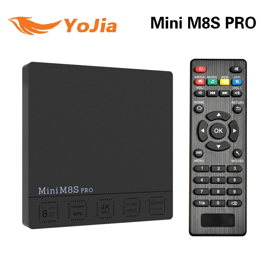 Yojia Original 3G/32G Mini M8S PRO Amlogic S912 Android 7.1 TV Box Octa Core DDR3 2GB/16GB MINI M8s PRO Set top Box Media player