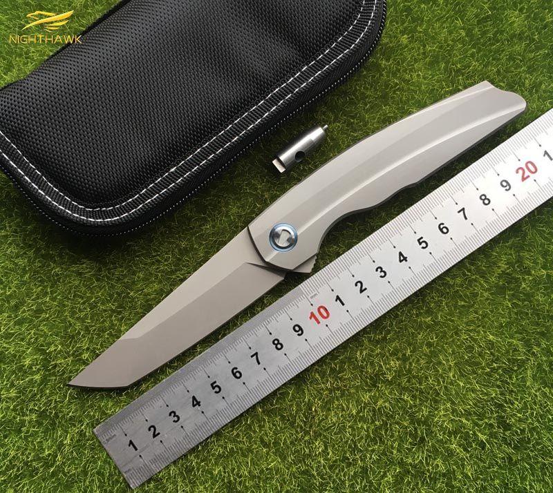 NIGHTHAWK RUS Spiegeln Tanto RFT M390 klinge klappmesser Titan griff Taktische jagd outdoor camping überleben Messer EDC werkzeug