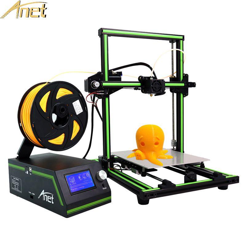Anet E10 A8 A6 Auto 3D Printer High Accuracy DIY Self Assembly Desktop 3d printer Kits DIY Large Printing Size Free 10m Filament