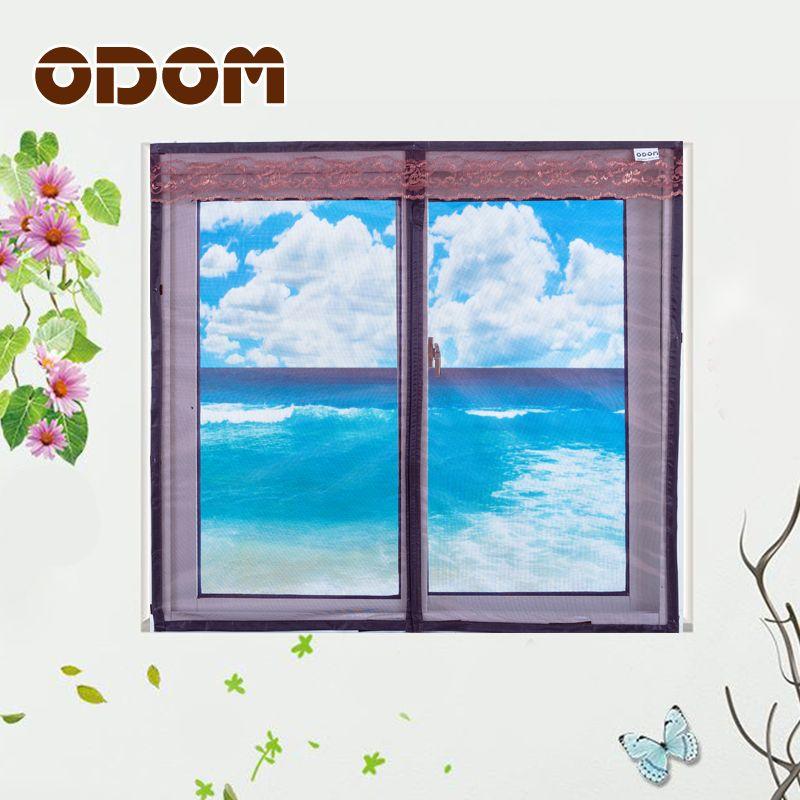 ODOM Fenster-bildschirm Tür Magnetische moskitofenster Bildschirm Hohe qualität sommer stumm fliegengitter 3 farben