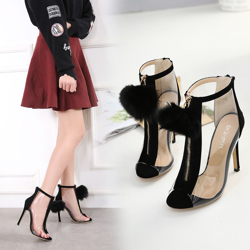 2018 solid zipper casual shoes woman new thin super high heels sandals women shoes black pumps sandalias superstar ladies shoes