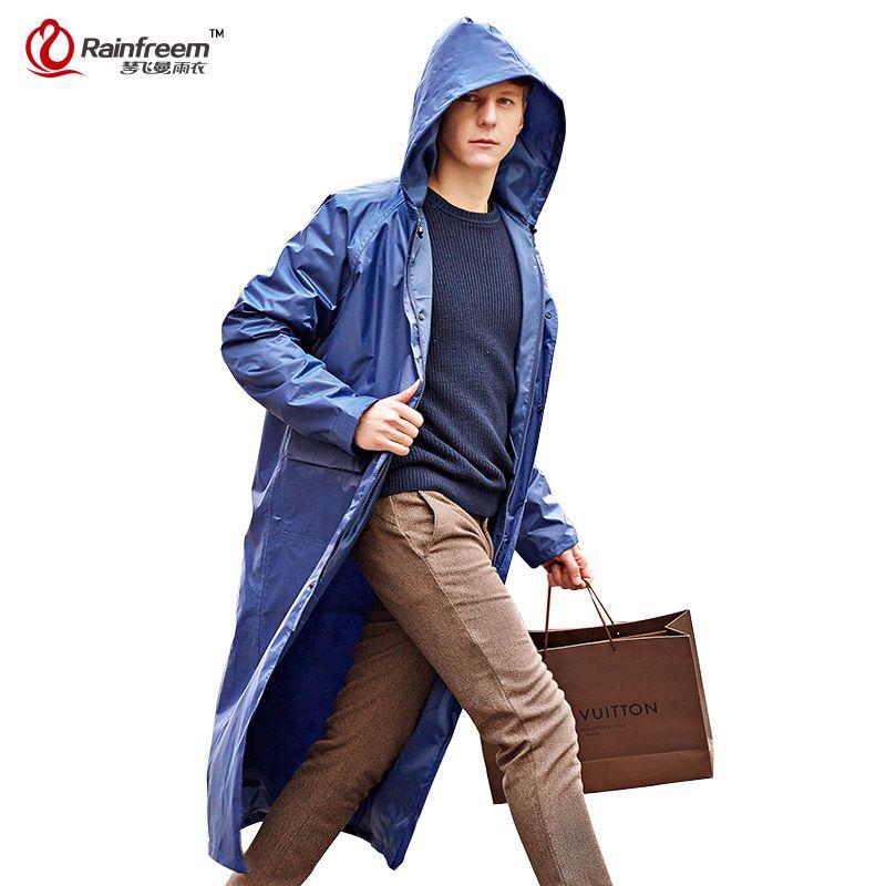 Rainfreem Undurchlässig Regenmantel Frauen/Männer Wasserdicht Graben Mantel Poncho doppelschicht Regen Mantel Frauen Regenbekleidung Regen Getriebe Poncho