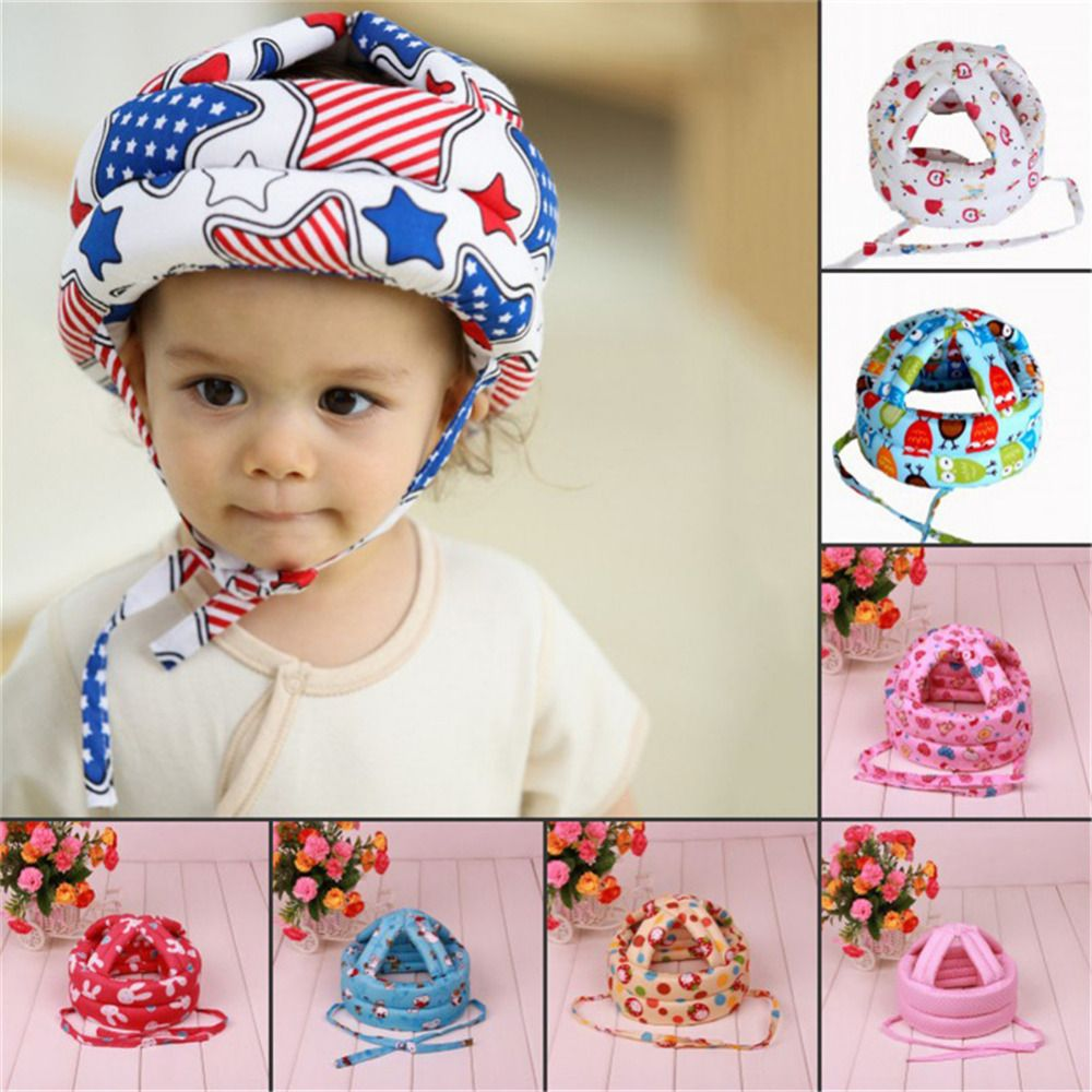Baby Safety Helmet Soft Comfortable Head Security&Protection Adjustable Baby Toddler Cap Anti-collision Protective Hat