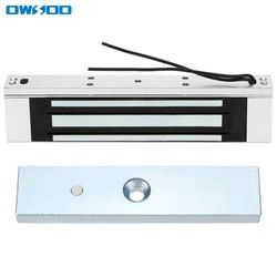 Owsoo Электрический магнитный замок 180 кг 350lbs усилие DC12V замок Система контроля доступа Электромагнит отказобезопасные NC Режим