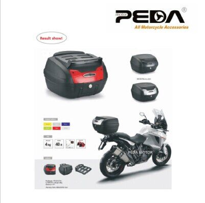 PEDA 2019 40L Motorcycle Topcase Non-Broken PP Tail Box 48x42.5x30.5cm Scooter Cargo Case Carrier Box Topcases Carrier Box