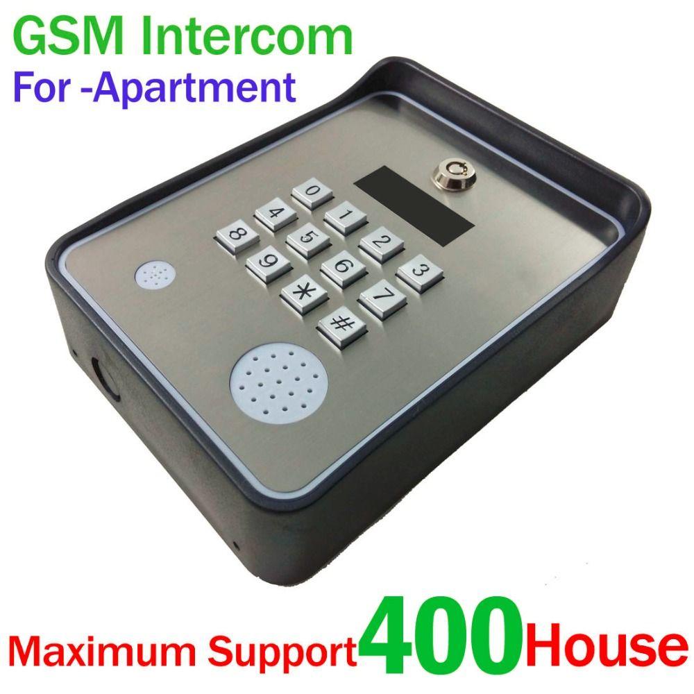 Keypad Wireless GSM audio Door Phone Intercom SMS Door lock remote release and security alarm