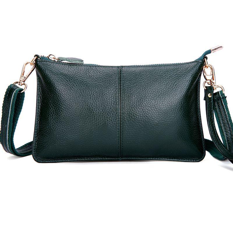 Sac Messenger en cuir véritable pour femmes robe pochette dames sac à bandoulière Simple sac à main dames sac à bandoulière Bolsas féminin