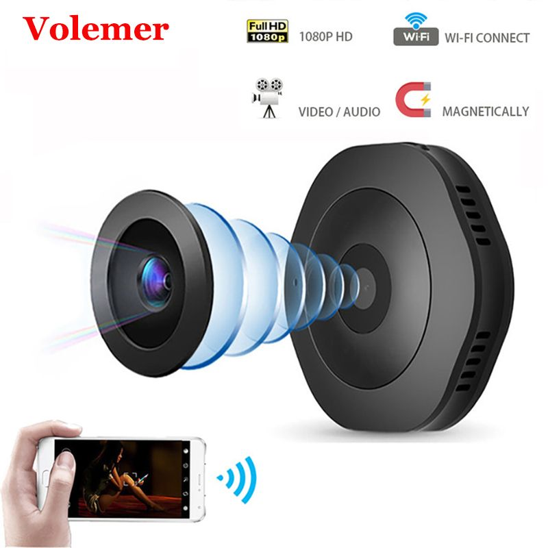 Volemer H6 Wifi Mini caméra sécurité à domicile IR Vision nocturne sans fil Ip caméra HD détection de mouvement Portable magnétique caméra de poche