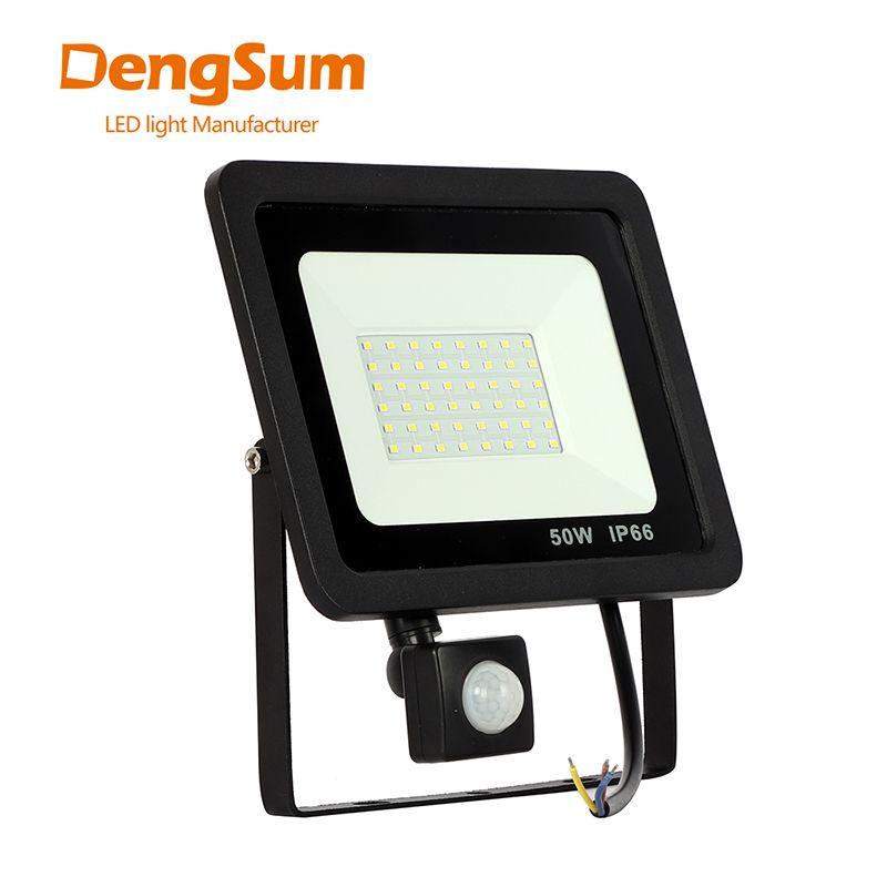 Lumière d'inondation de l'induction Led de 10W 20W 30W 50W 100W avec l'éclairage extérieur réglable de projecteur du capteur SMD 2835 de PIR pour la place de rue