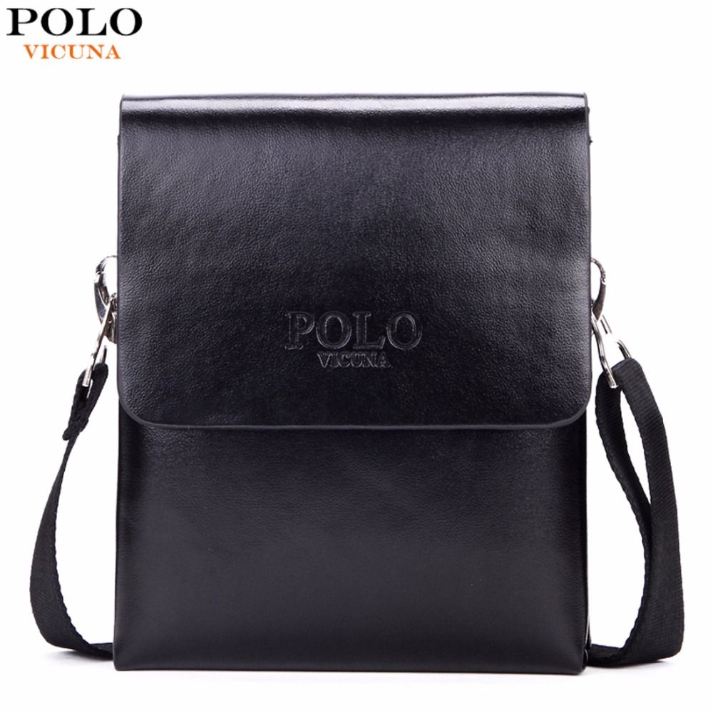 VICUNA POLO Hot <font><b>Sell</b></font> Brand Solid Double Pocket Soft Leather Men Messenger Bag Small 2 Layer Mens Travel Bag Mens Bag For Phone
