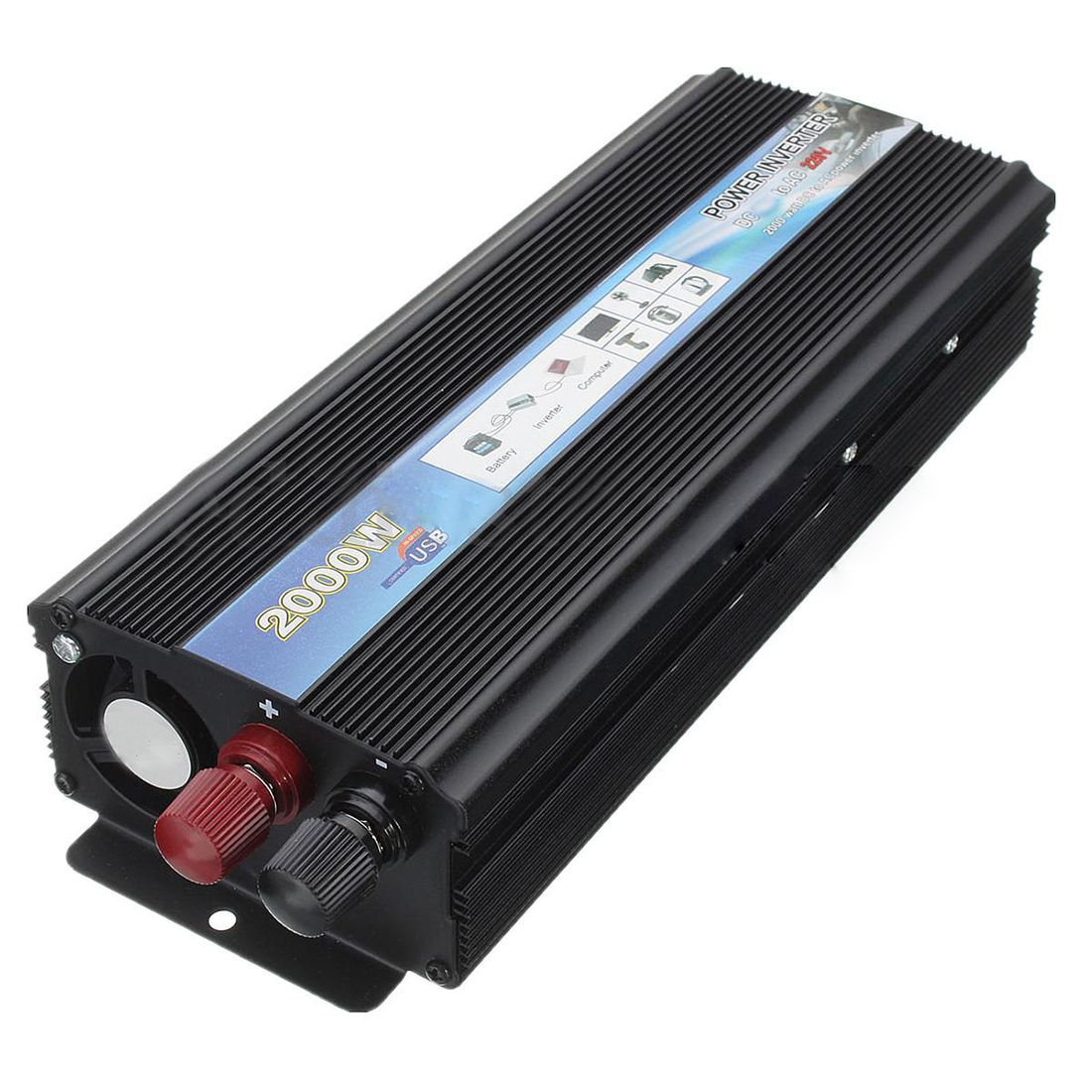 XUYUAN 2000W Car Vehicle USB DC 24V to AC 220V Power Inverter Adapter Converter