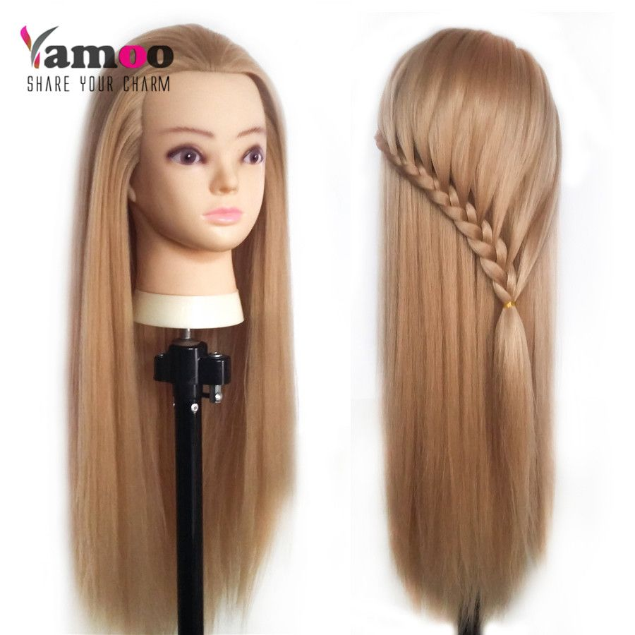 Professional 65cm hairdressing dolls <font><b>head</b></font> Female Mannequin Hairdressing Styling Training <font><b>Head</b></font> Nice high quality Mannequin <font><b>Head</b></font>