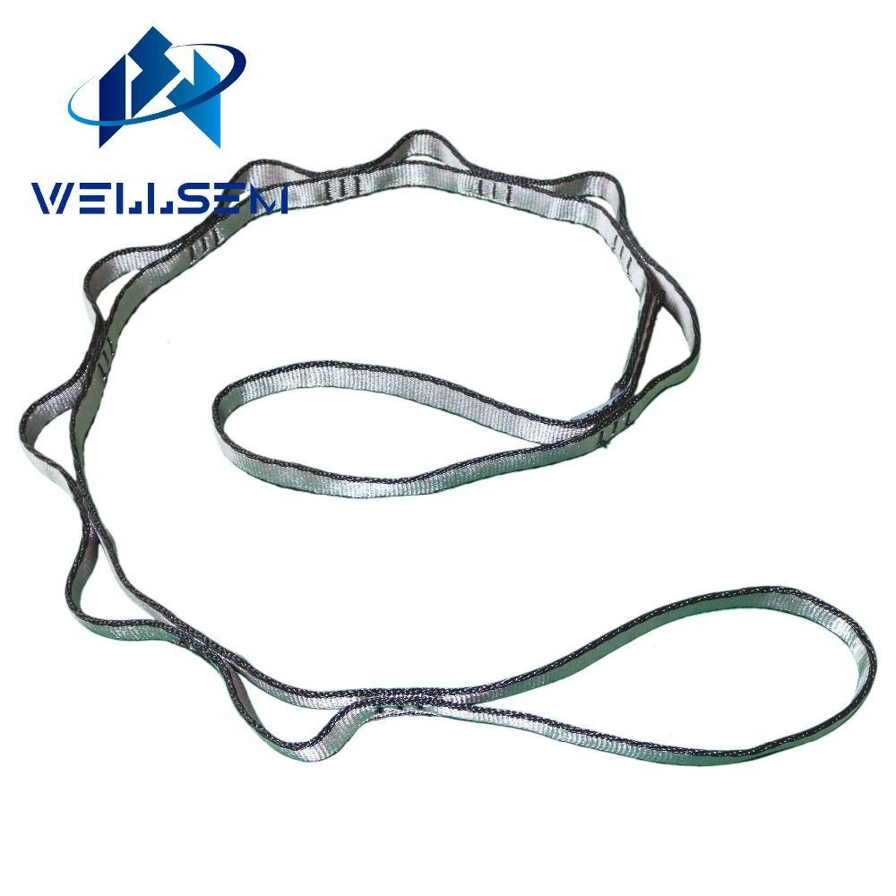 Wellsem 1 pcs yoga extender sangle corde daisy chian pour yoga hamac Camping En Plein Air Escalade Sport