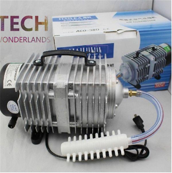 NEW Aquarium electromagnetic air compressor 70L/min 45W fish tank air <font><b>pump</b></font> increasing oxygen <font><b>pump</b></font> HAILEA ACO-318